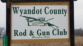 entrance sign for Wyandot Rod & Gun Club